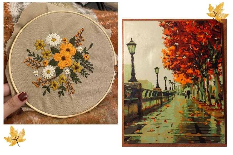 Autumn in New England - Simply Nel Belle Blog - Embroidery Project and Autumn Paint By Numbers