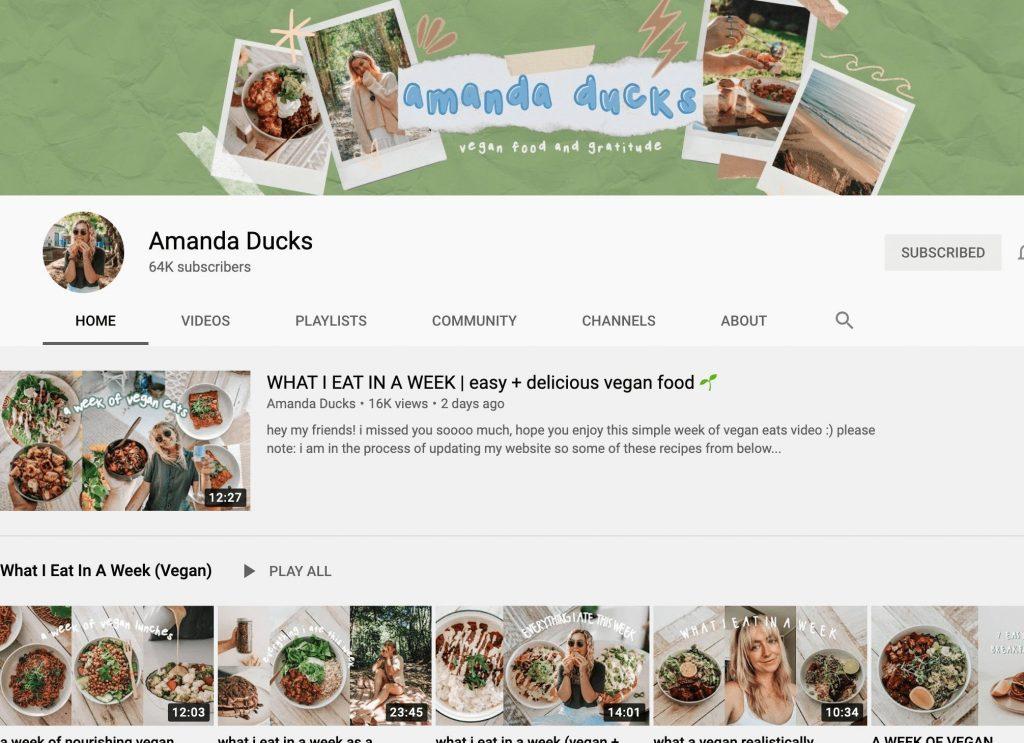 Amanda Ducks YouTube Channel