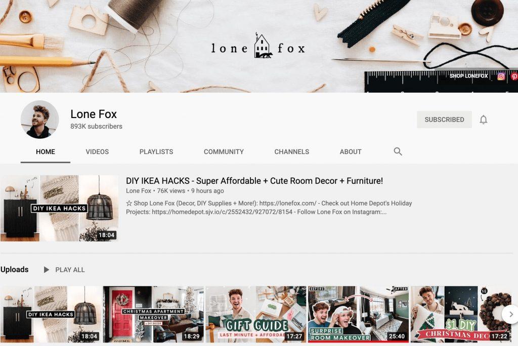 Lone Fox YouTube Channel