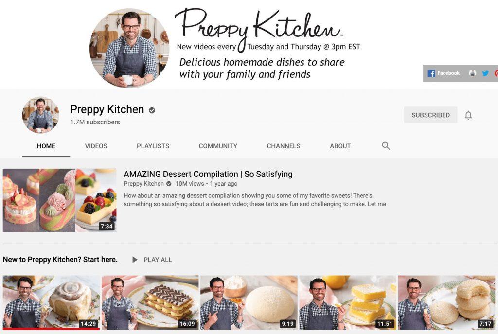 Preppy Kitchen YouTube Channel