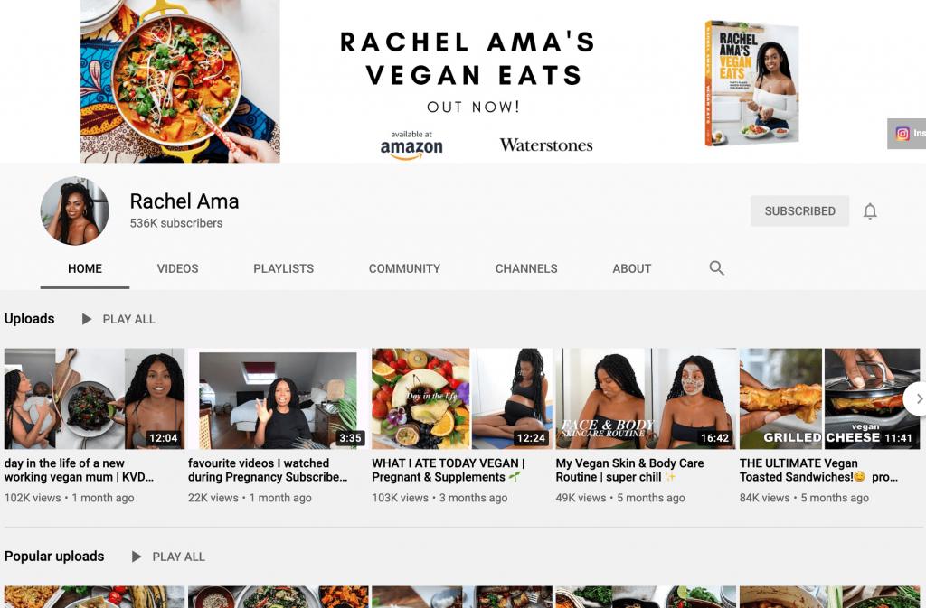 Rachel Ama YouTube Channel
