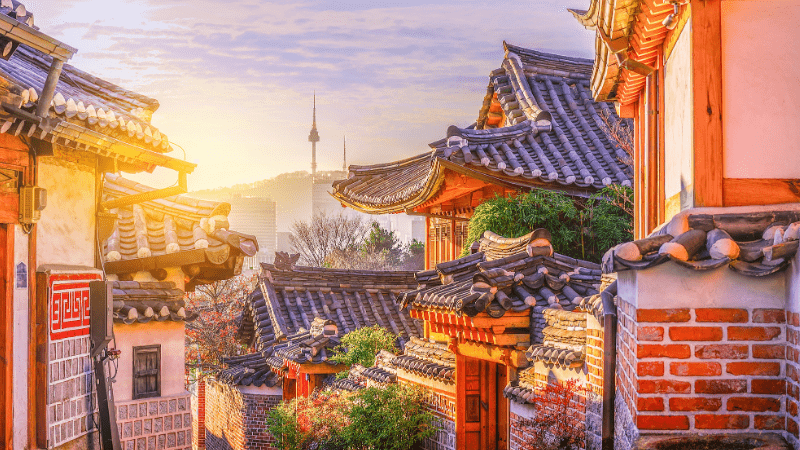 Post-Pandemic Travel Destinations - Seoul, South Korea - View from Andong