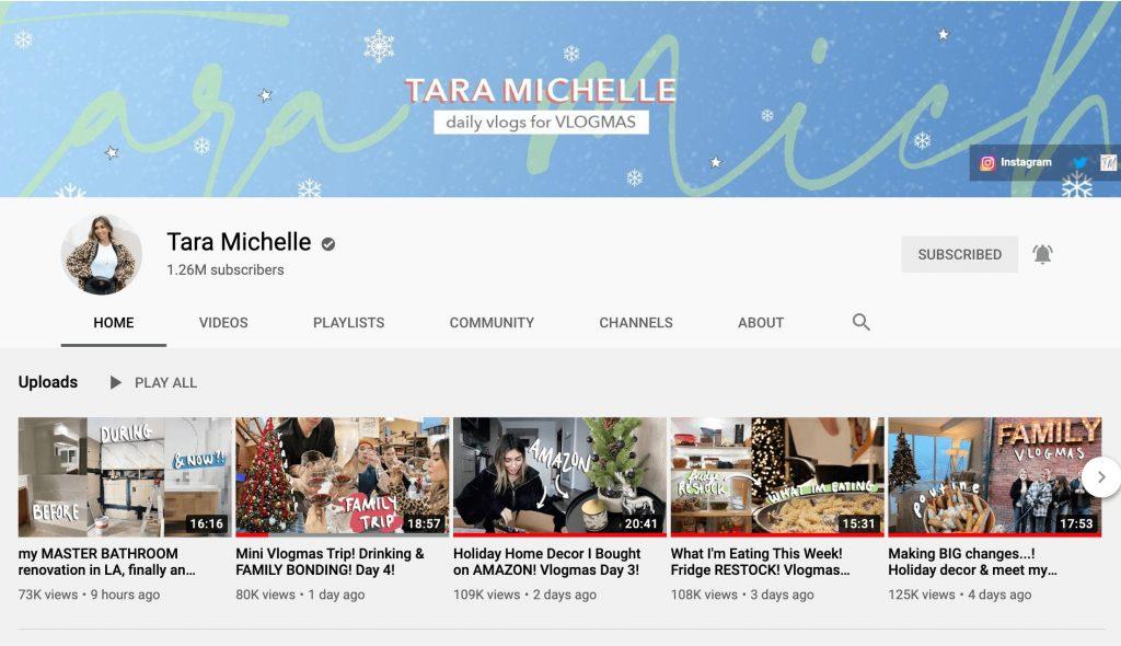 Tara Michelle YouTube Channel