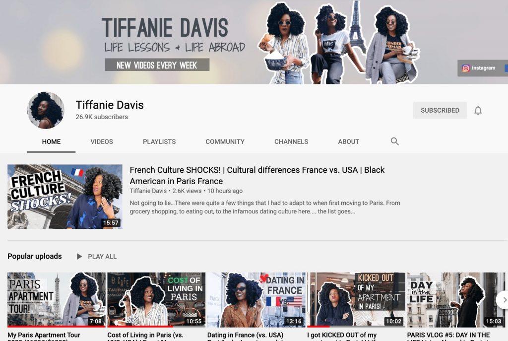 Tiffanie Davis YouTube Channel