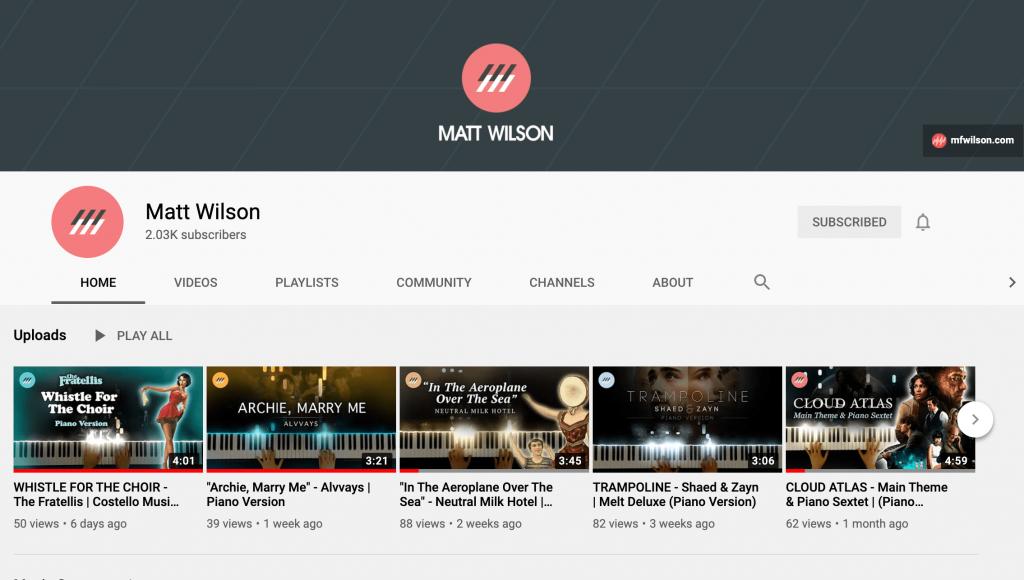 Matt Wilson YouTube Channel