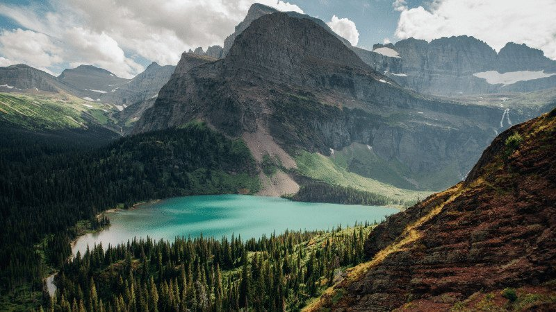 Post-Pandemic Travel Destinations - Glacier National Park - View of the Lake