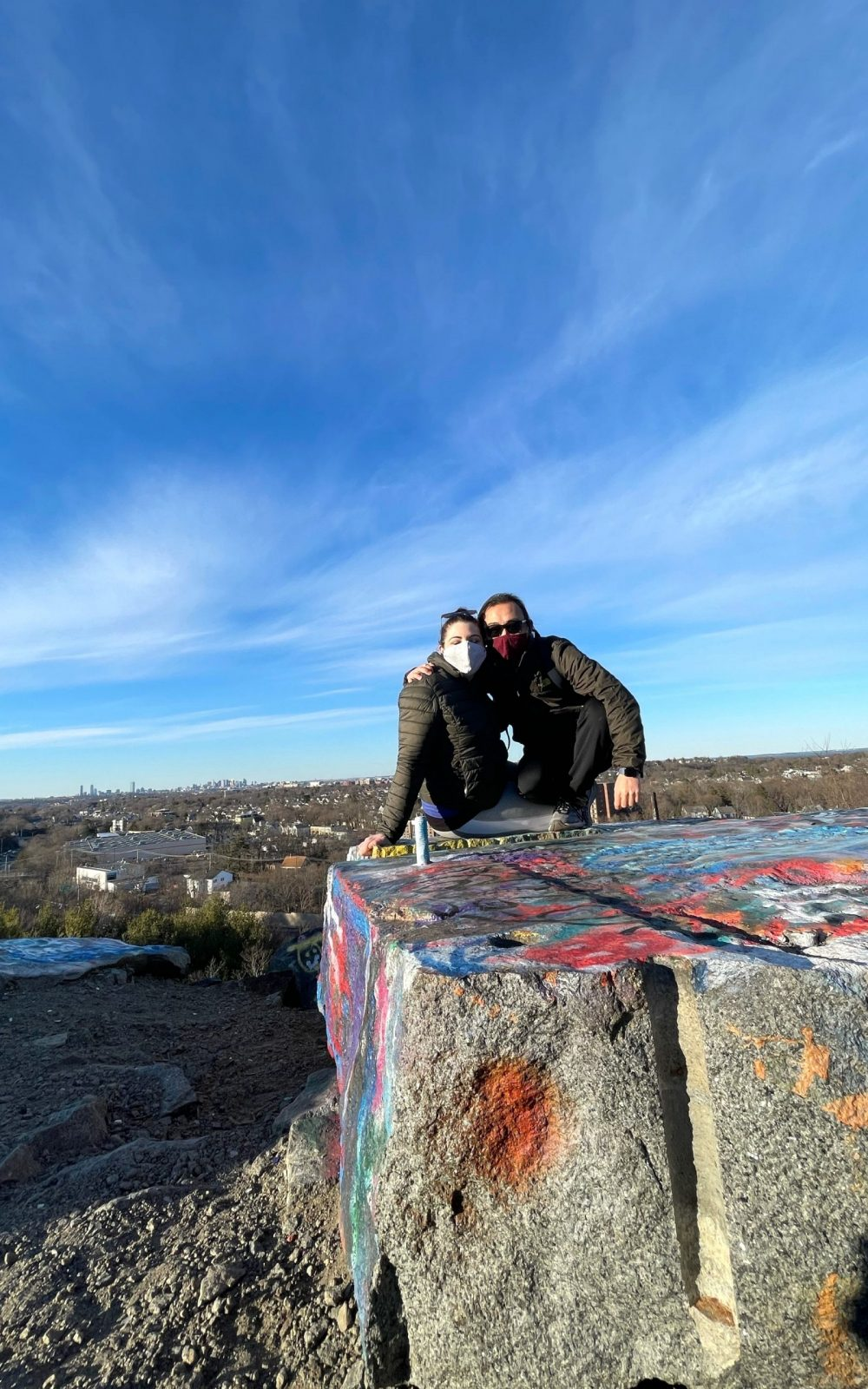 Matt and I on top of Quincy Quarries Reservation