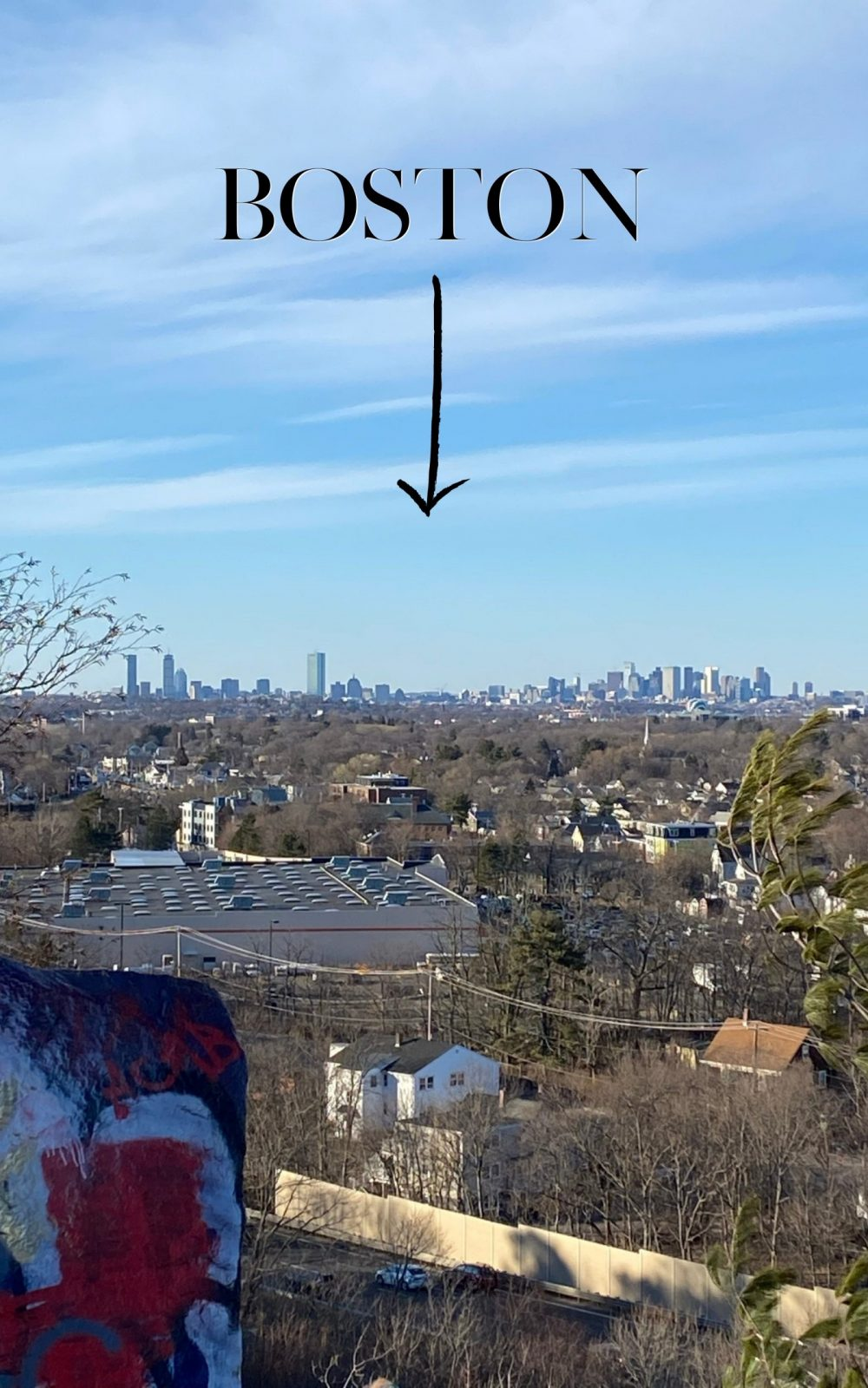 View of Boston from Quincy Quarries