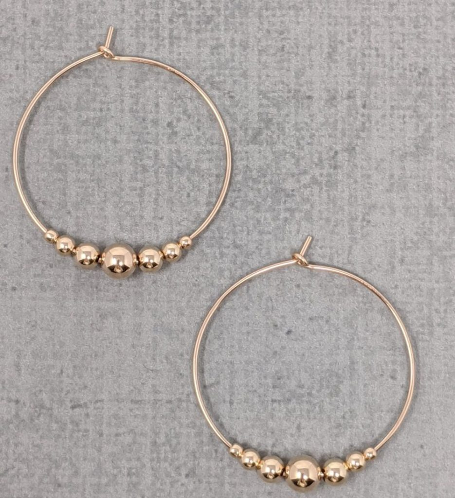 Mother's Day Gift Ideas, Wyllo, Rose Gold Tessa Hoops