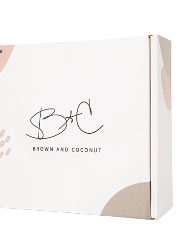 Mother's Day Gift Ideas, Brown & Coconut, Custom Gift Set