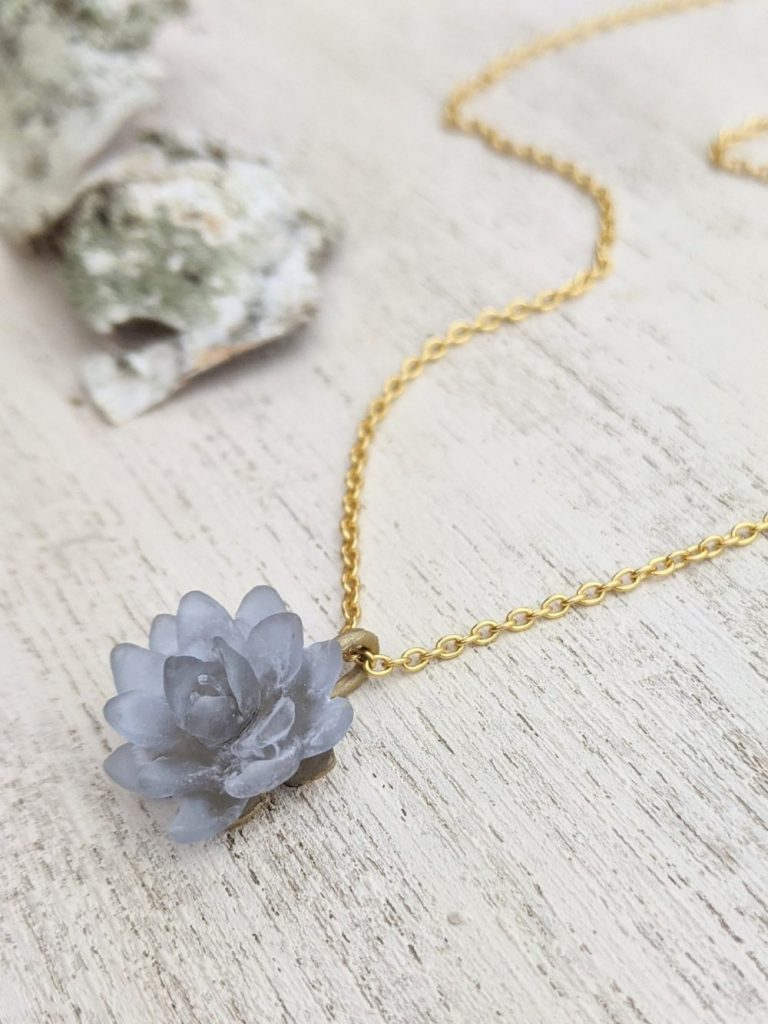 Mother's Day Gift Ideas, Ash & Rose Boutique, Water Lilly Pendant Necklace