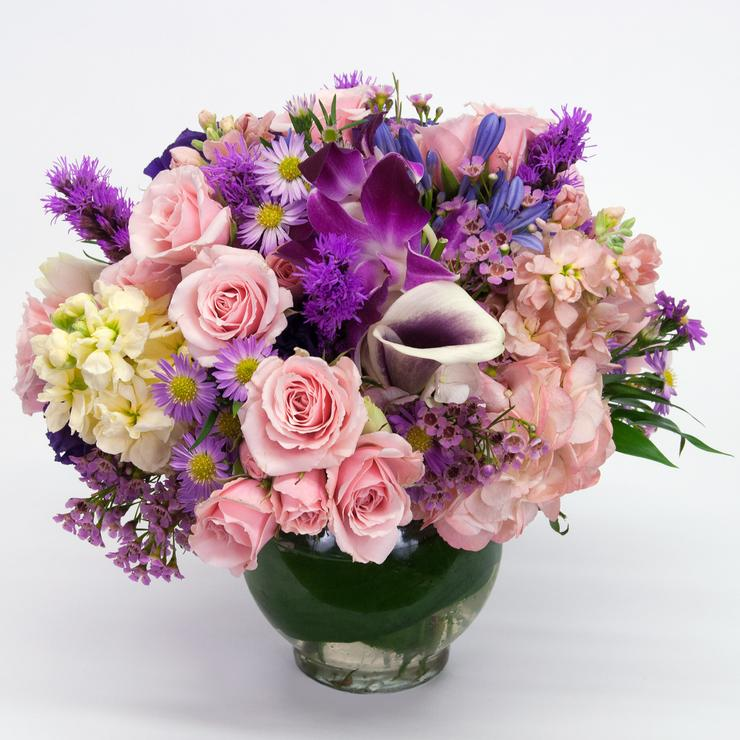 Mother's Day Gift Ideas, Brattle Square Florist, Purple Pink Delight