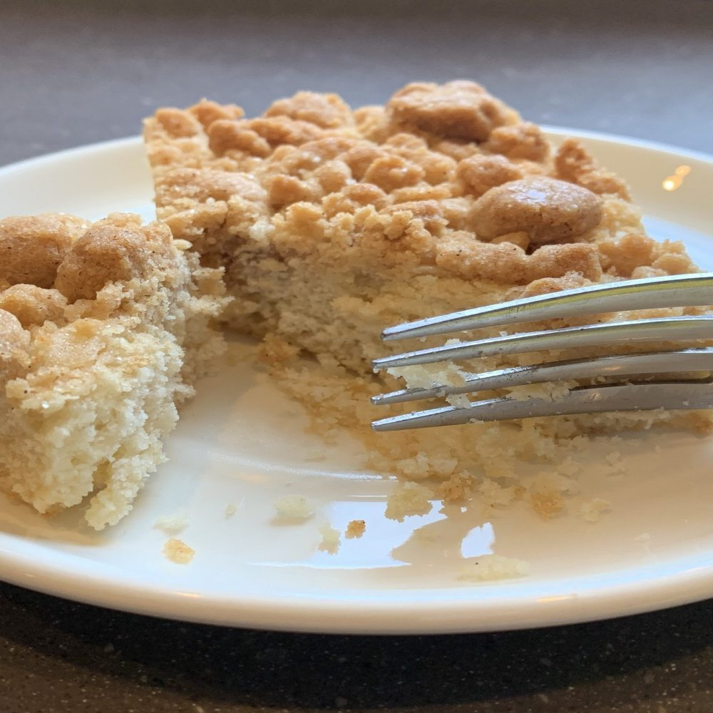 Mother's Day Gift Ideas, Clarke's Cakes and Cookies, Vegan Crumb Cake